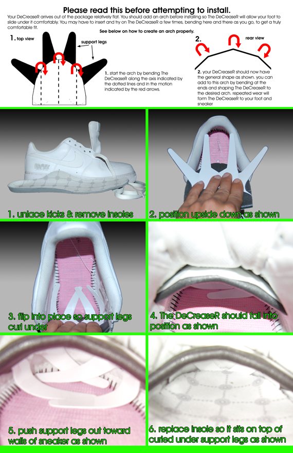 STOP SNEAKER CREASES WITH THE ORIGINAL DeCreaseR